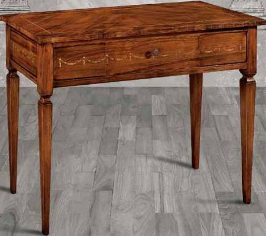 Image of 1-fiókos intarziás konzol asztalka