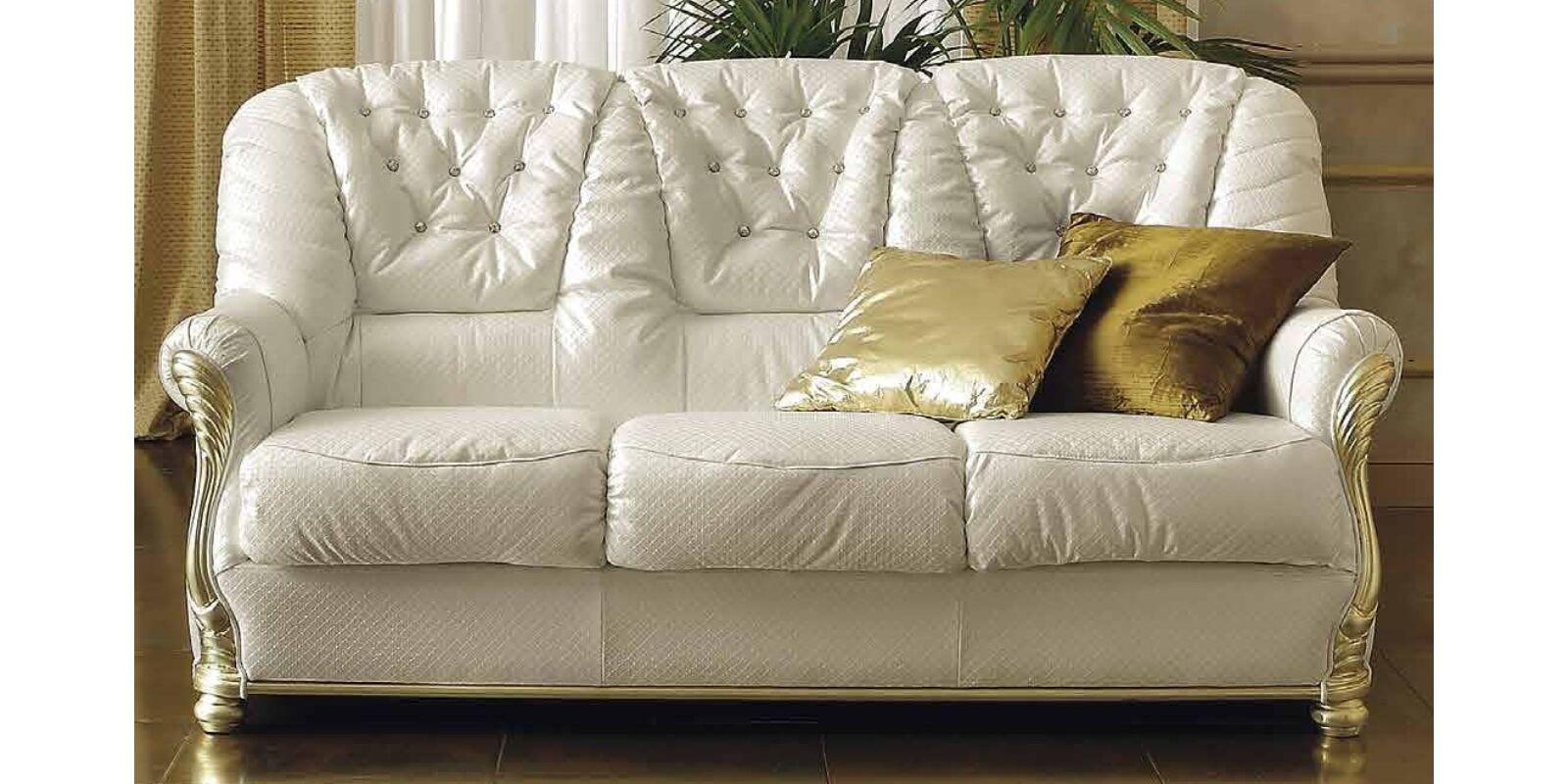 Leonardo Day 3-személyes kanapé, valódi bőr