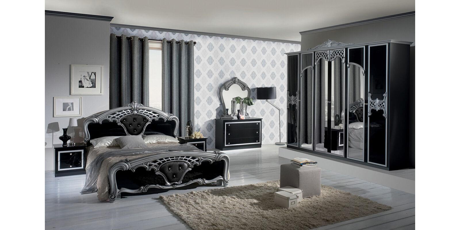 Italia Bútor - Eva klasszikus olasz hálószoba garnitúra, fekete ...