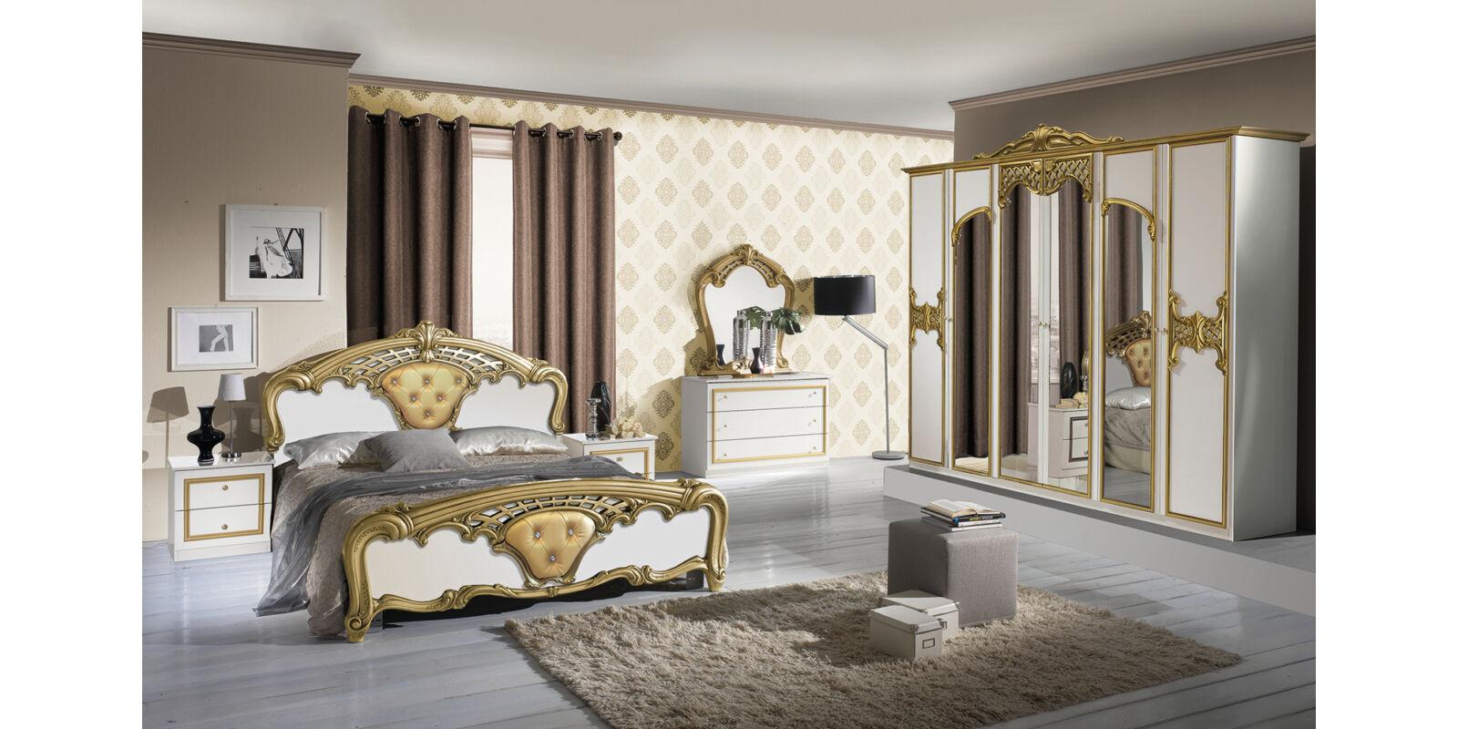 Italia Bútor - Eva klasszikus olasz hálószoba garnitúra, fehér ...