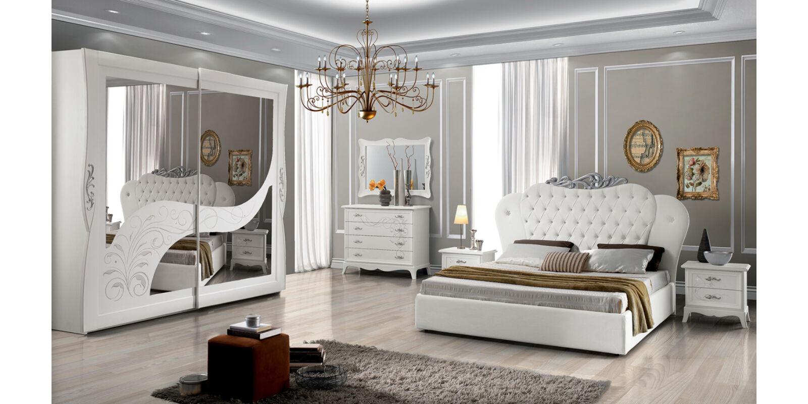 Italia Bútor - Elisea klasszikus olasz hálószoba garnitúra, fehér ...