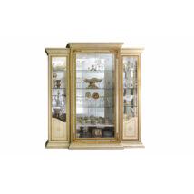 AC Leonardo Day 4-ajtós vitrines szekrény, díszkoronával