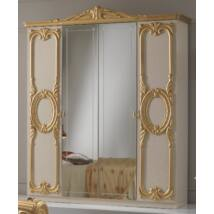 BC Cristina 4-ajtós szekrény, 2 tükrös ajtóval - bézs