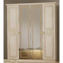BC Sara 6-ajtós szekrény, 2 tükrös ajtóval - bézs