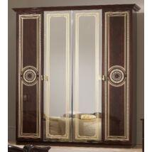 4-ajtós szekrény, 2 tükrös ajtóval - mahagóni