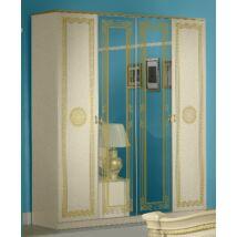 BC Serena 4-ajtós szekrény, 2 tükrös ajtóval - bézs