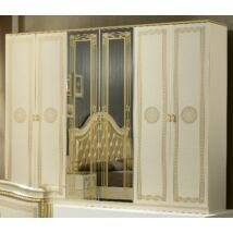 BC Serena 6-ajtós szekrény, 2 tükrös ajtóval - bézs