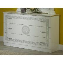 BC Serena Komód - fehér-ezüst