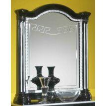 Díszes tükör - fekete-ezüst