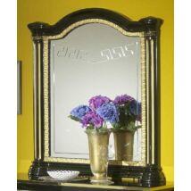 Díszes tükör - fekete-arany
