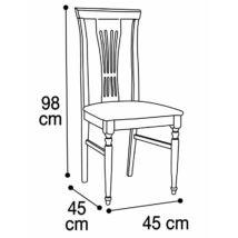 Nostalgia szék íróasztalhoz, spinato bianco szövettel (dió)