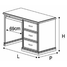 Nostalgia íróasztal (jobbos, vagy balos) (antik fehér)