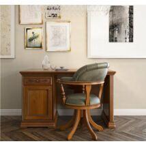 Torriani íróasztal ajtós résszel, fazettás hátoldallal (dió)