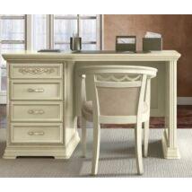 Torriani íróasztal fiókos résszel, fazettás hátoldallal (elefántcsontszín)