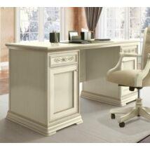 Torriani íróasztal kétoldalt ajtós résszel, fazettás hátoldallal (elefántcsontszín)