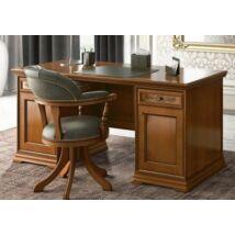 Torriani íróasztal kétoldalt ajtós résszel, fazettás hátoldallal (dió)
