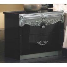 Barocco Éjjeliszekrény - fekete-ezüst