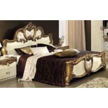 Barocco Franciaágy keret - bézs, arany díszítéssel