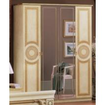 Aida 4-ajtós szekrény, 2 tükrös ajtóval - bézs