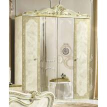 Leonardo 4-ajtós szekrény, 2 tükrös ajtóval