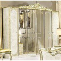 Leonardo 6-ajtós szekrény, 4 tükrös ajtóval