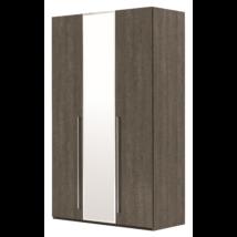 3-ajtós szekrény, 1 tükrös ajtóval - ezüst nyír