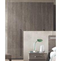 4-ajtós szekrény - ezüst nyír
