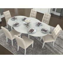 Dama Bianca Day Kerek étkezőasztal 2 kihúzható elemmel (+2x35 cm hosszabbítható)
