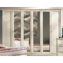 Nostalgia 6-ajtós szekrény - antik fehér, magasság: 220 cm