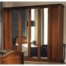 Nostalgia 6-ajtós szekrény dió színben, magasság: 220 cm