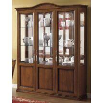 Nostalgia Day 3-ajtós vitrines szekrény 3 szpotlámpával