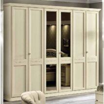 Torriani 6-ajtós szekrény - elefántcsontszín