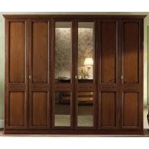 Torriani 6-ajtós szekrény dió színben