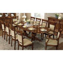 Ovális étkezőasztal 160x100 cm (+2x40 cm hosszabbítható) - cseresznye