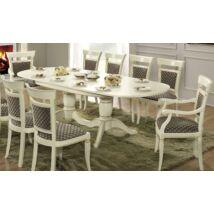 Treviso Day Ovális étkezőasztal (+2x40 cm hosszabbítható) - fehér kőris