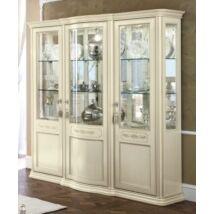 Torriani Day 3-ajtós vitrines szekrény tükör hátfallal - elefántcsontszín