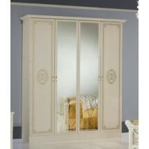 DI Amalfi 4-ajtós szekrény, 2 tükrös ajtóval - bézs