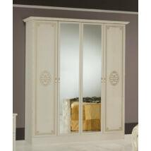DI Lucy 4-ajtós szekrény, 2 tükrös ajtóval - bézs