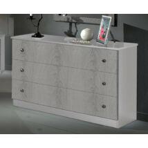 DI Safa Komód - fehér-ezüst