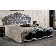 Sibilla Franciaágy keret - 160 cm, fekete-ezüst