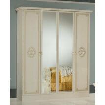 DI Vera 4-ajtós szekrény, 2 tükrös ajtóval - bézs