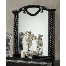 DI Vera díszes tükör - fekete-ezüst