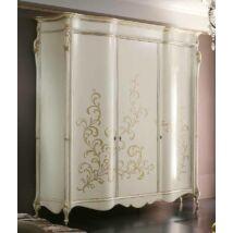 Luigi XXI 3-ajtós ruhásszekrény - lakkozott