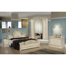 H2 Stella hálószoba - bézs 160x200 cm ággyal, 4-ajtós szekrénnyel
