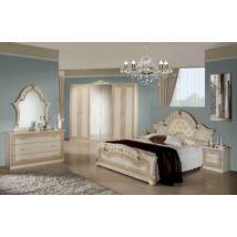 H2 Stella hálószoba - bézs 160x200 cm ággyal, 6-ajtós szekrénnyel