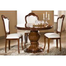 H2 Elizabeth Day Kerek étkezőasztal 115x115 cm (+40 cm hosszabbítható) - dió