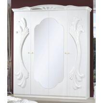 H2 Gina/Vanity 4-ajtós szekrény, 2 tükrös ajtóval