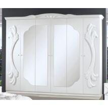 H2 Gina/Vanity 6-ajtós szekrény, 4 tükrös ajtóval