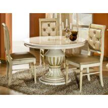 H2 Rossella Day Kerek étkezőasztal 115x115 cm (+45 cm hosszabbítható) - bézs