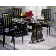 H2 Rossella Day Étkezőasztal 185x105 cm (+45 cm hosszabbítható) - fekete-arany